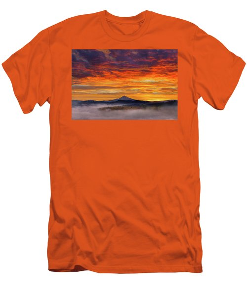 First Light On Mount Hood During Sunrise Men's T-Shirt (Athletic Fit)