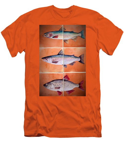 Fish Mural Men's T-Shirt (Slim Fit) by Andrew Drozdowicz