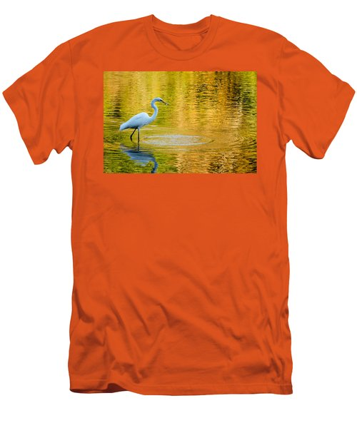 Men's T-Shirt (Slim Fit) featuring the photograph Fishing 2 by Wade Brooks
