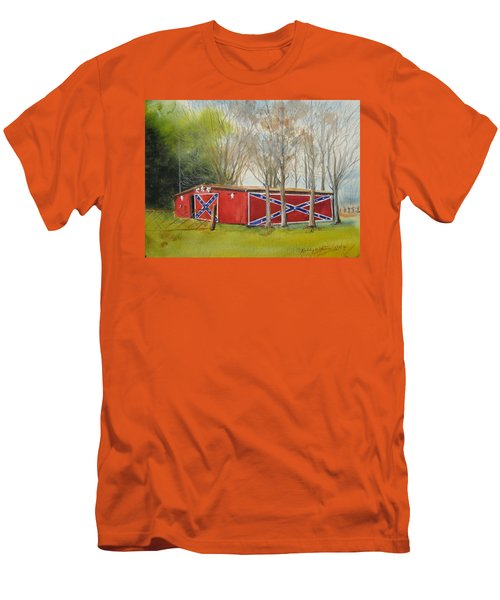 Flag Barn Men's T-Shirt (Athletic Fit)