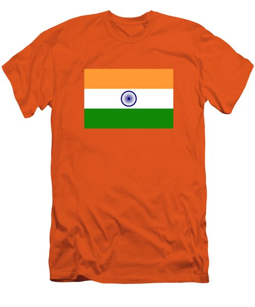 Flag Of India Authentic Version Men's T-Shirt (Slim Fit) by Bruce Stanfield