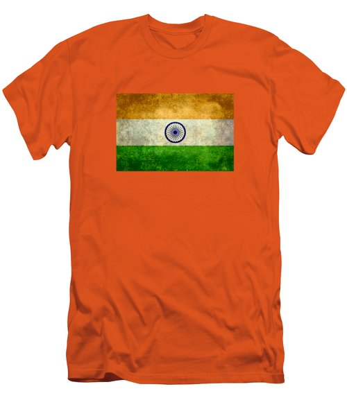 Flag Of India Retro Vintage Version Men's T-Shirt (Slim Fit) by Bruce Stanfield