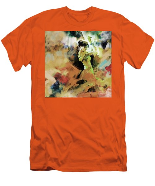 Men's T-Shirt (Slim Fit) featuring the painting Flamenco 56y3 by Gull G