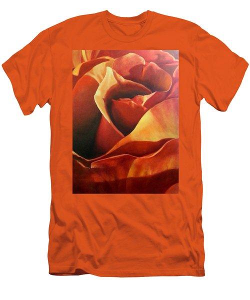 Flaming Rose Men's T-Shirt (Athletic Fit)