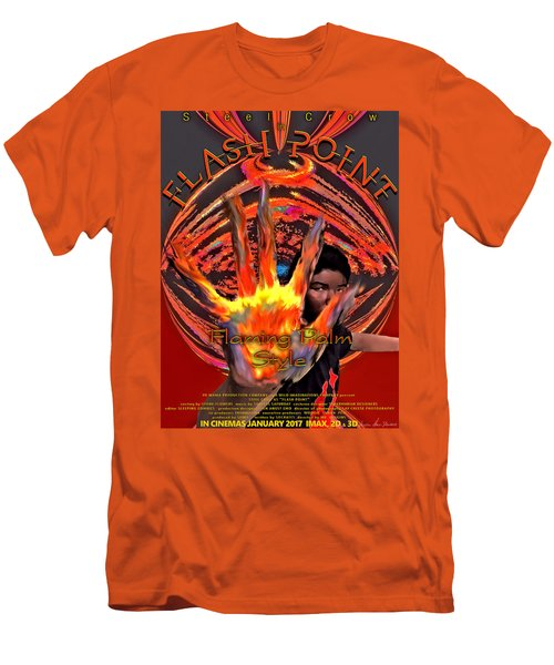 Men's T-Shirt (Athletic Fit) featuring the digital art Flash Point by Iowan Stone-Flowers