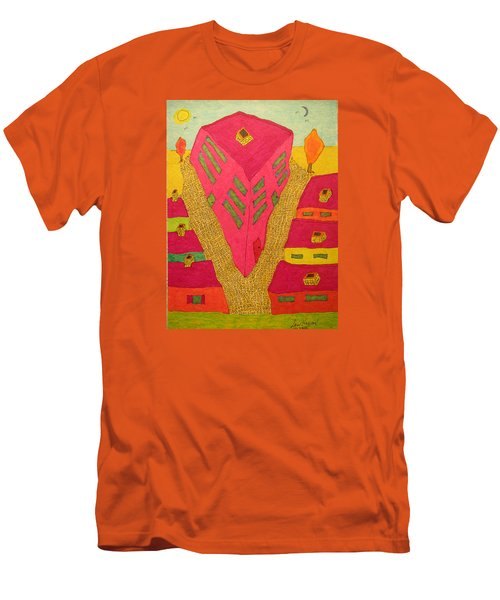 Flat Iron Bldg Men's T-Shirt (Athletic Fit)