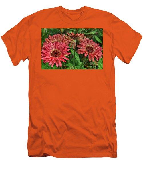 Men's T-Shirt (Slim Fit) featuring the photograph Floral Pink by Deborah Benoit