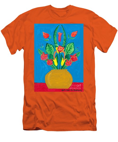 Flower Bowl Men's T-Shirt (Slim Fit) by Margie-Lee Rodriguez