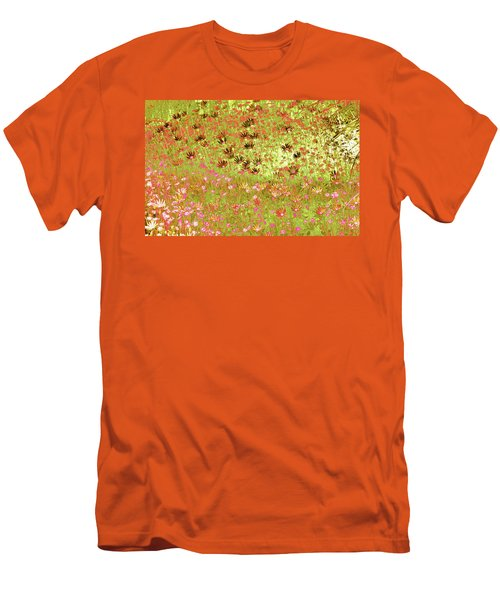 Flower Praise Men's T-Shirt (Slim Fit) by Linde Townsend