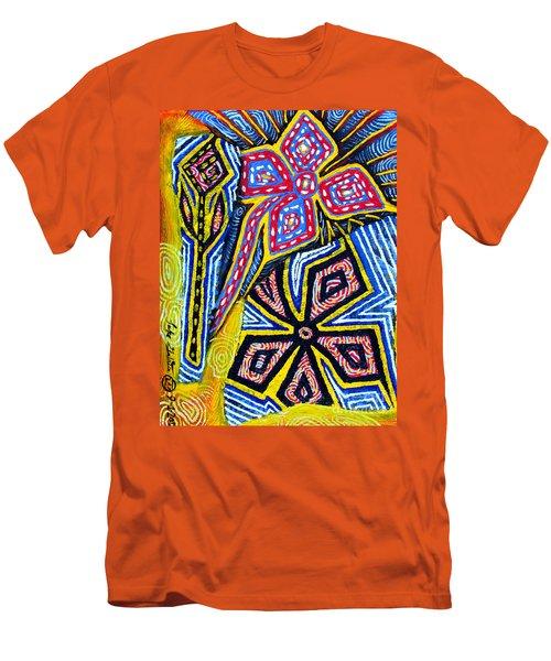 Flower Study Men's T-Shirt (Slim Fit) by Luke Galutia