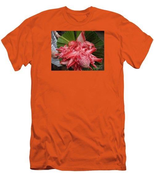 Flowering Coconiut Sao Tome Men's T-Shirt (Slim Fit) by John Potts