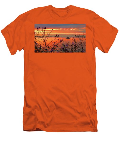 Flowers Along The Shore At Tibbetts Point  Men's T-Shirt (Athletic Fit)
