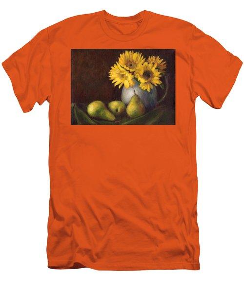 Men's T-Shirt (Slim Fit) featuring the painting Flowers And Fruit by Janet King