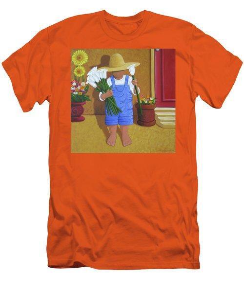 Flowers For A Friend Men's T-Shirt (Athletic Fit)