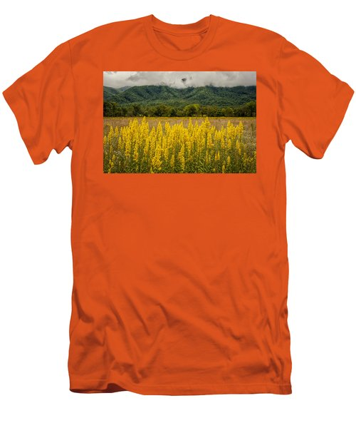 Men's T-Shirt (Slim Fit) featuring the photograph Flowers In Cades Cove by Tyson Smith