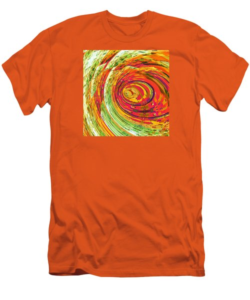 Men's T-Shirt (Slim Fit) featuring the digital art Fluorescent Wormhole by Shawna Rowe