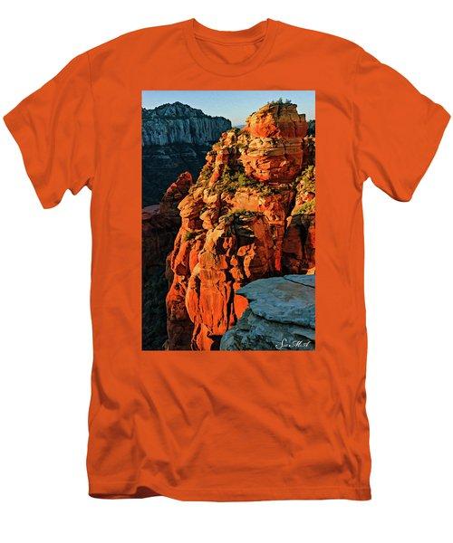 Flying Buttress 06-034 Men's T-Shirt (Slim Fit) by Scott McAllister
