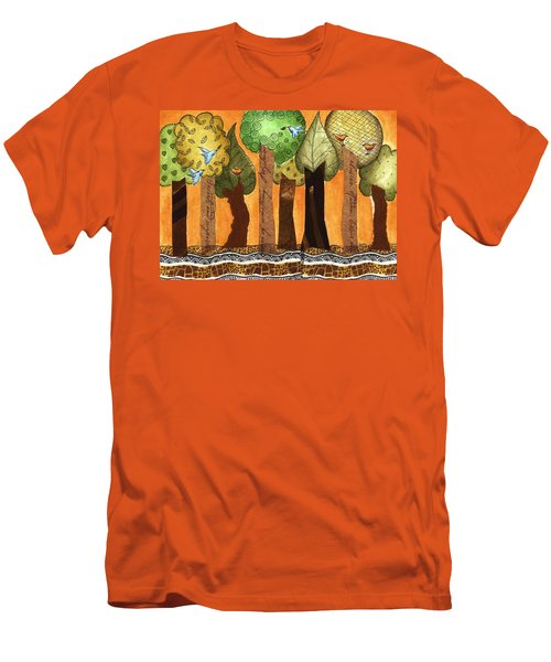 Flying In The Forest Men's T-Shirt (Athletic Fit)