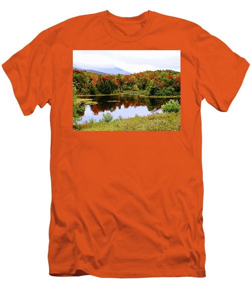 Foggy Day In Vermont Men's T-Shirt (Slim Fit) by Joseph Hendrix