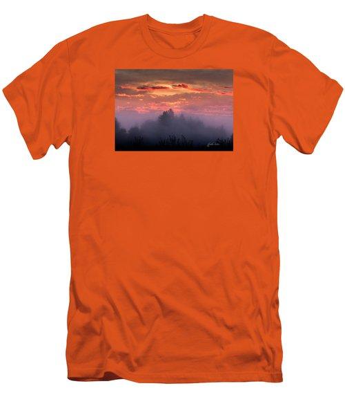 Foggy Mist At Dawn Men's T-Shirt (Slim Fit) by E Faithe Lester
