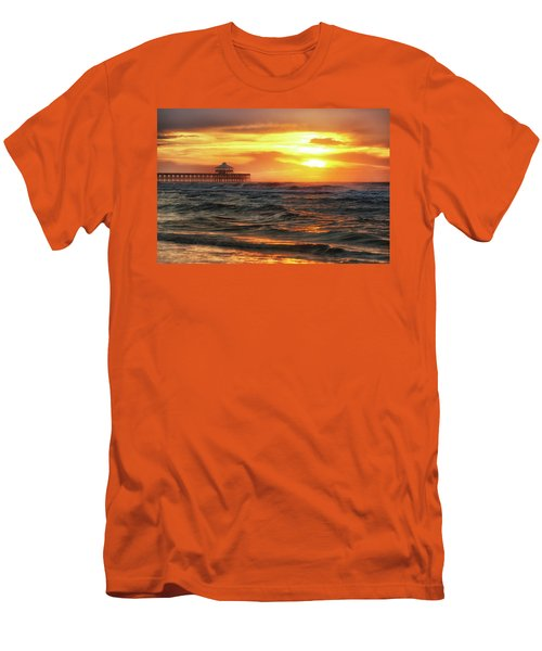 Folly Beach Pier Sunrise Men's T-Shirt (Athletic Fit)