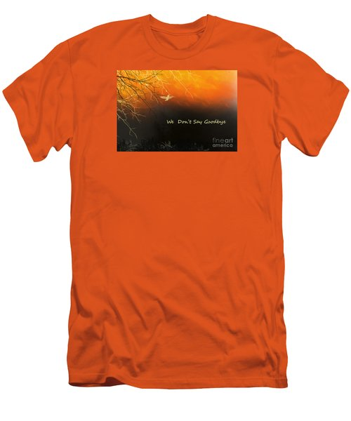 Men's T-Shirt (Slim Fit) featuring the digital art Fond Thoughts by Trilby Cole