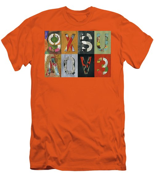 8 Number Letter Grid  Men's T-Shirt (Athletic Fit)