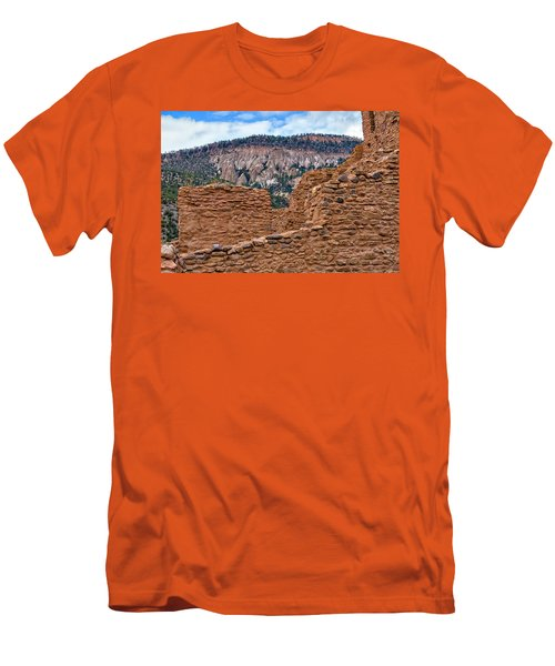 Men's T-Shirt (Slim Fit) featuring the photograph Forbidding Cliffs by Alan Toepfer