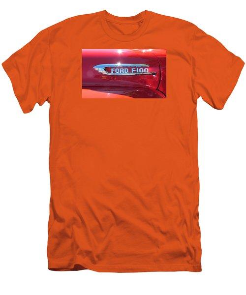 Men's T-Shirt (Slim Fit) featuring the photograph Ford F-100 Logo by Spyder Webb