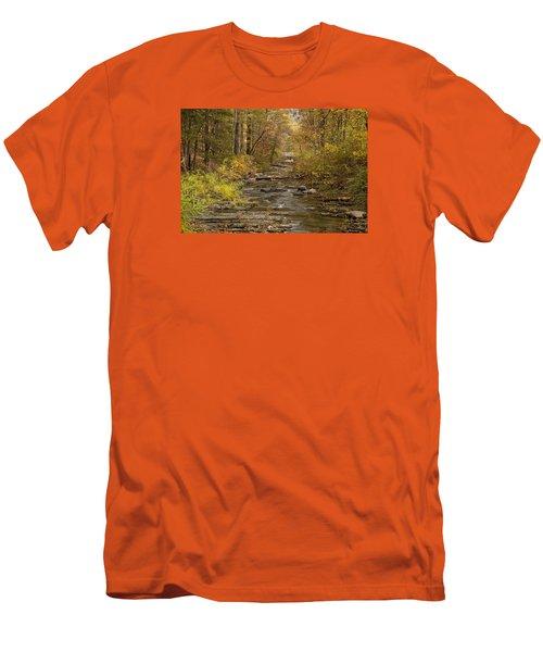 Fork River Ablaze In Color Men's T-Shirt (Athletic Fit)