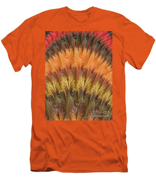 Fractalized Feather Fan Men's T-Shirt (Athletic Fit)