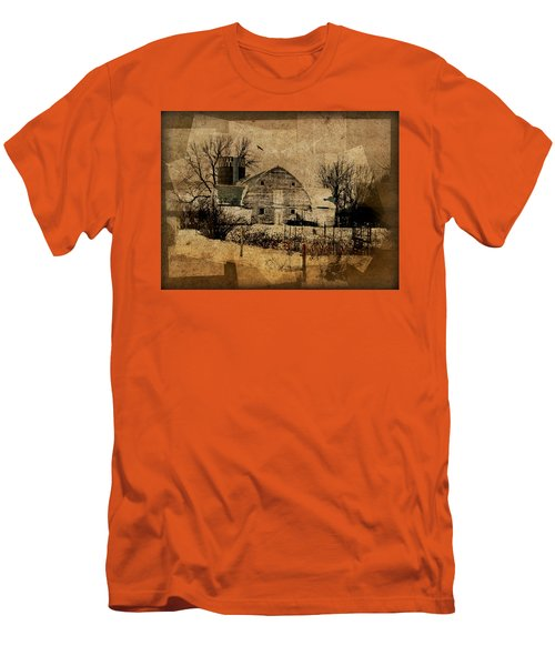 Fragmented Barn  Men's T-Shirt (Athletic Fit)