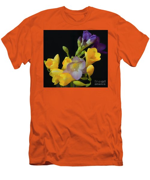 Freesias Softened 9 Men's T-Shirt (Athletic Fit)