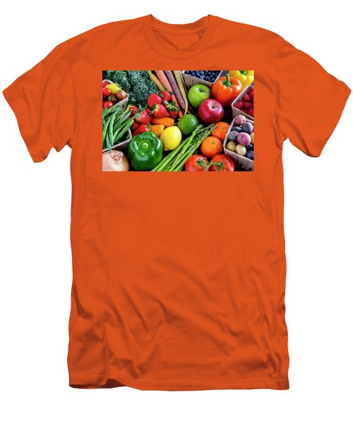 Fresh From The Farm Men's T-Shirt (Slim Fit) by Teri Virbickis