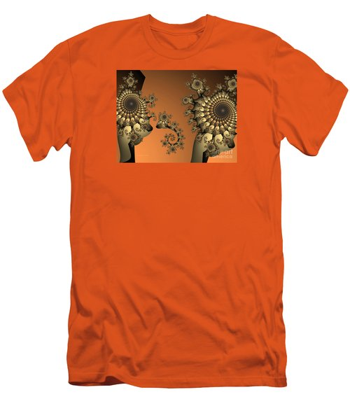 Men's T-Shirt (Slim Fit) featuring the digital art Frog King by Karin Kuhlmann