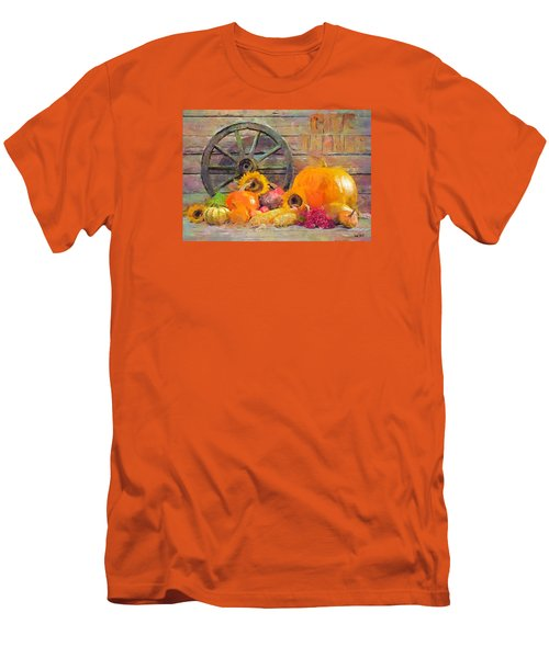Men's T-Shirt (Slim Fit) featuring the painting Fruits Of Thanks by Wayne Pascall