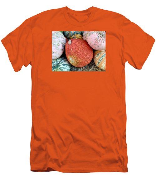Funky Pumpkins Men's T-Shirt (Slim Fit) by Russell Keating