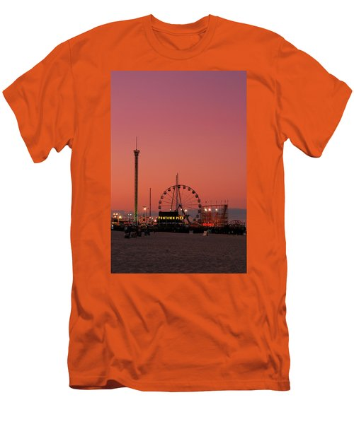 Funtown Pier At Sunset II - Jersey Shore Men's T-Shirt (Athletic Fit)