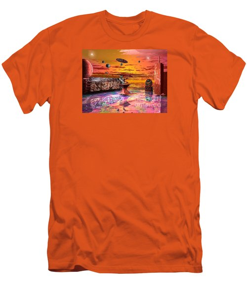 Future Horizions Firey Sunset Men's T-Shirt (Athletic Fit)