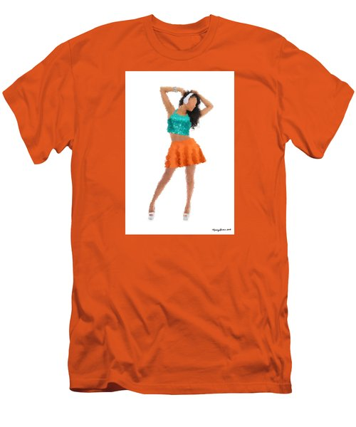 Men's T-Shirt (Slim Fit) featuring the digital art Gaby by Nancy Levan