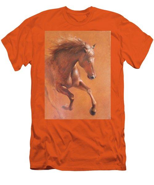 Gallop In The Desert Men's T-Shirt (Slim Fit) by Vali Irina Ciobanu