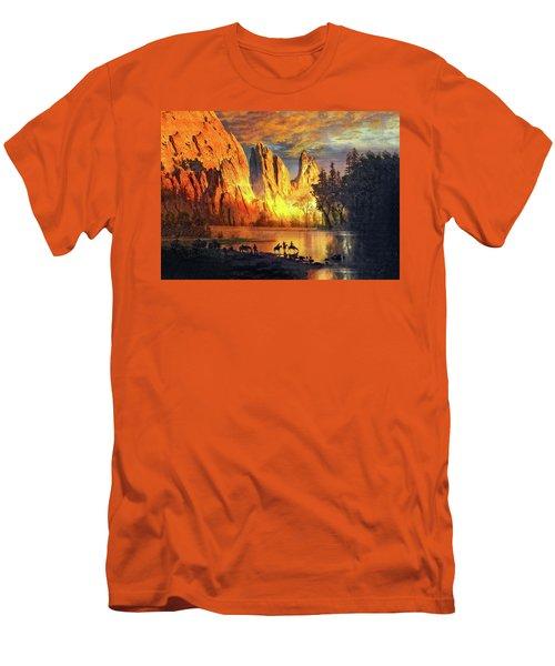 Garden Of The Gods Majesty At Sunset 2 Men's T-Shirt (Slim Fit) by John Hoffman
