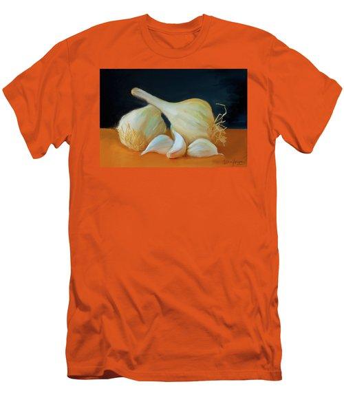 Garlic 01 Men's T-Shirt (Slim Fit) by Wally Hampton
