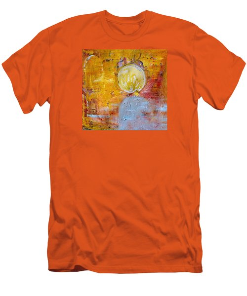 Men's T-Shirt (Slim Fit) featuring the painting Genesis by Evelina Popilian