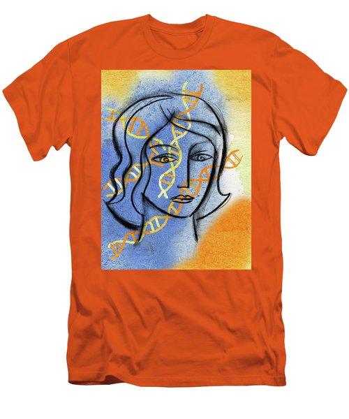 Men's T-Shirt (Slim Fit) featuring the painting Genetics by Leon Zernitsky