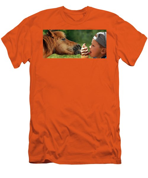Pals - Getting Their Licks In Men's T-Shirt (Slim Fit) by I'ina Van Lawick