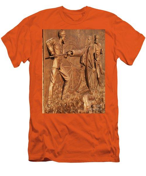 Gettysburg Bronze Relief Men's T-Shirt (Athletic Fit)