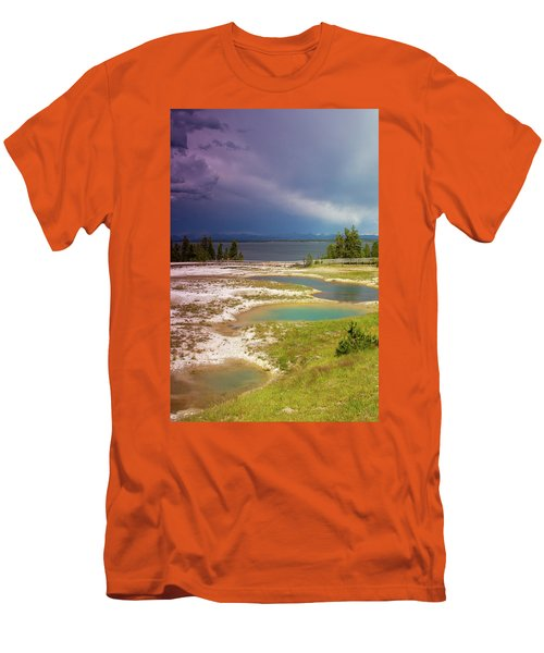 Geysers Pools Men's T-Shirt (Slim Fit) by Dawn Romine