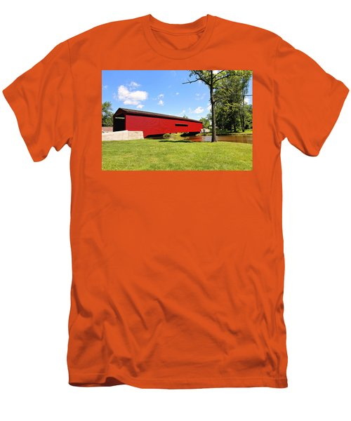 Gilpin's Falls Covered Bridge Men's T-Shirt (Slim Fit) by Trina  Ansel