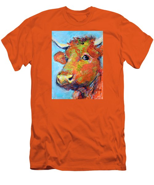 Men's T-Shirt (Slim Fit) featuring the painting Ginger Horn by Mary Schiros